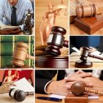 Set of wooden gavel and law 5